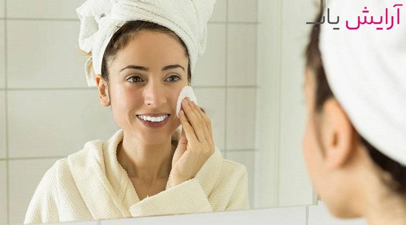 تمیز کردن صورت